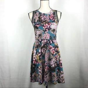 Xhilaration Fit Flare Floral Summer Dress Size M